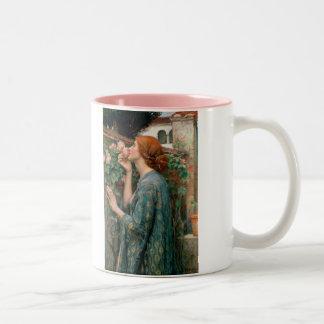 The Soul of the Rose - John William Waterhouse Two-Tone Coffee Mug
