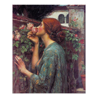 The Soul of The Rose Poster By John W. Waterhouse