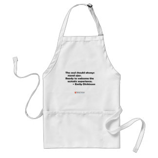 The soul should always stand ajar adult apron