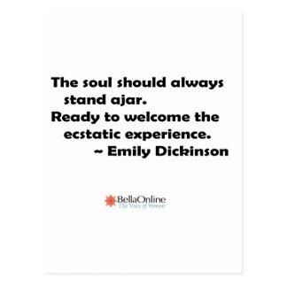 The soul should always stand ajar postcard