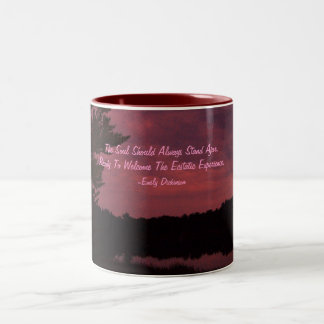 The Soul Should Always Stand Ajar,... Two-Tone Coffee Mug