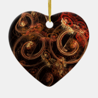The Sound of Music Abstract Art Heart Ornament