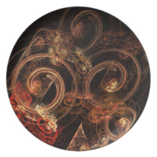The Sound of Music Abstract Art Plate