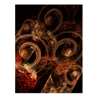 The Sound of Music Abstract Art Postcard