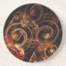abstract, art, fine art, modern, artistic, cool, pattern, sandstone, Descanso para copos com design gráfico personalizado