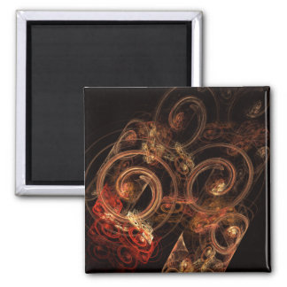 The Sound of Music Abstract Art Square Magnet