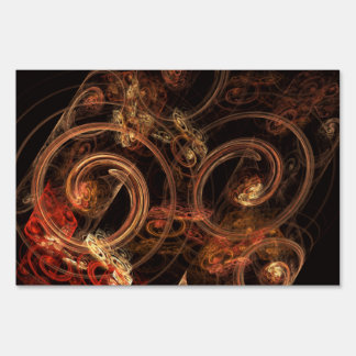 The Sound of Music Abstract Art Yard Sign