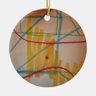 The sound of music ceramic ornament