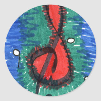 """""""The Sound of Red"""" Abstract Design Sticker"""