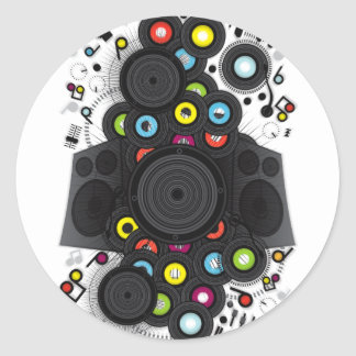 The_Sound_of_Silence Classic Round Sticker