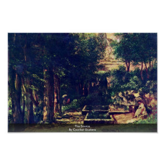 The Source By Courbet Gustave Poster