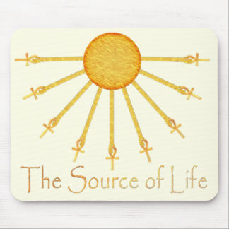 The Source of Life Egyptian Sun Ankh Mousepad