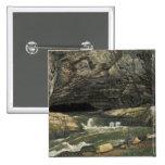 The Source of the Loue or La Grotte Sarrazine 2 Inch Square Button