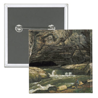 The Source of the Loue or La Grotte Sarrazine Pinback Button