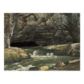 The Source of the Loue or La Grotte Sarrazine Postcard
