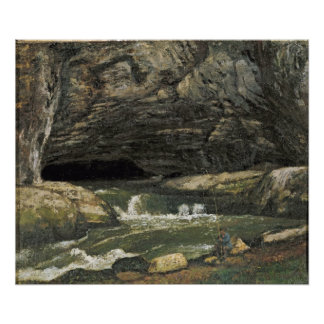 The Source of the Loue or La Grotte Sarrazine Poster