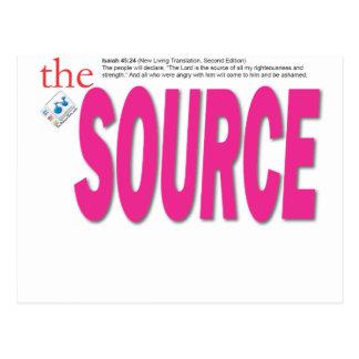 the Source Postcard