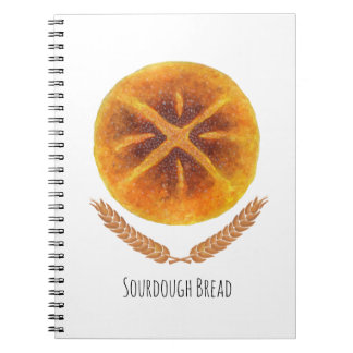 The Sourdough Bread Spiral Notebooks