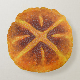 The Sourdough Bread Round Pillow