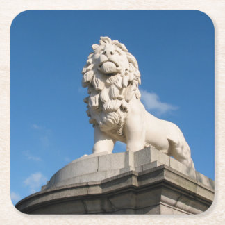 The South Bank Lion Square Paper Coaster
