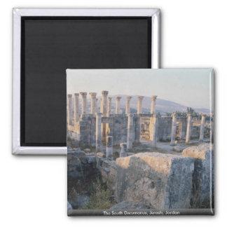 The South Decumanus, Jerash, Jordan 2 Inch Square Magnet