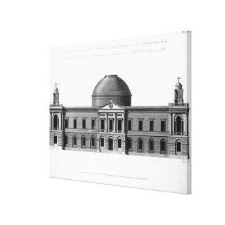 The South Elevation of Register House, Canvas Print