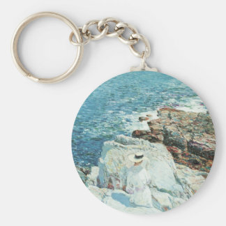 The South Ledges, Appledore by Childe Hassam Keychain