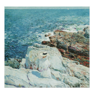 The South Ledges, Appledore by Childe Hassam Poster