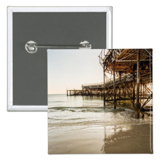 The South Parade Pier On The Coast At Southsea Pinback Button