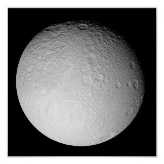 The South Pole of Saturn's moon Tethys Posters