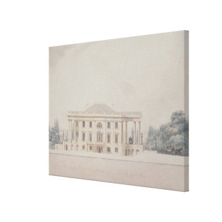 The South Portico of the President s House 1807 Gallery Wrapped Canvas