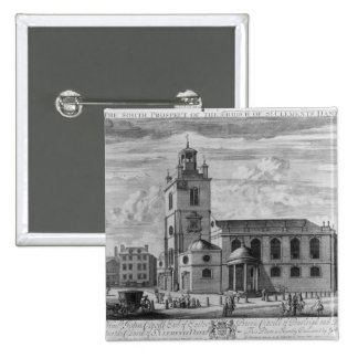 The South Prospect of the Church of St. Pinback Button