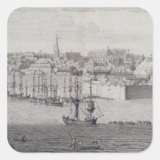 The South View of Berwick Upon Tweed, c.1743-45 (p Square Sticker