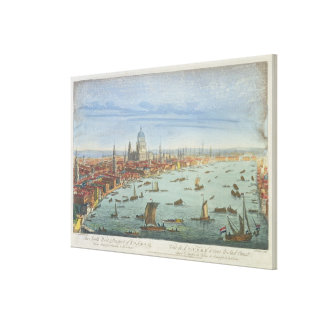 The South West Prospect of London, from Somerset G Canvas Print