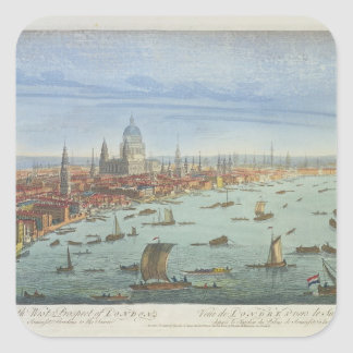 The South West Prospect of London, from Somerset G Square Sticker