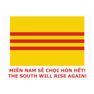 The South will rise again! South Vietnam, that is! Postcard