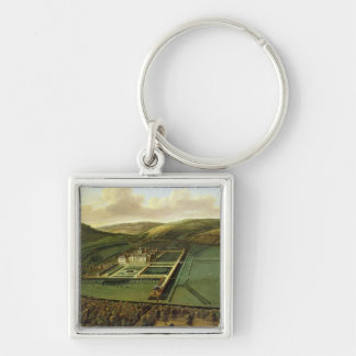 The Southeast Prospect of Hampton Court, Herefords Silver-Colored Square Keychain