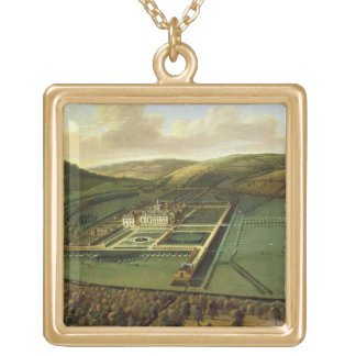 The Southeast Prospect of Hampton Court, Herefords Square Pendant Necklace