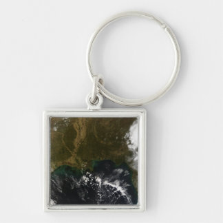 The southeastern United States Silver-Colored Square Keychain