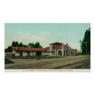 The Southern Pacific Railroad Depot Poster