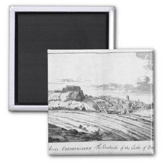 The Southside of the Castle of Edinburgh Fridge Magnet