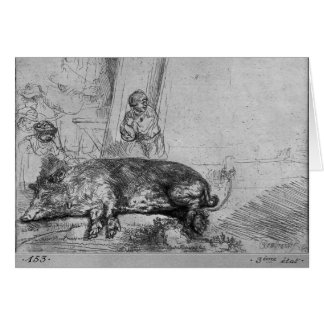 The Sow, 1643 Card