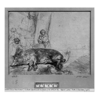 The Sow, 1643 Posters
