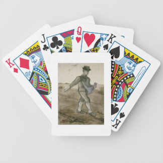 The Sower, 1881 (pencil, pen & brown ink) Deck Of Cards