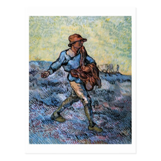The Sower (after Millet), Van Gogh Fine Art Postcard