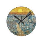 The Sower by the Dutch painter Vincent van Gogh Round Wallclock