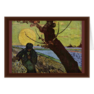 The Sower By Vincent Van Gogh Cards