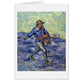 The Sower By Vincent Van Gogh Greeting Card