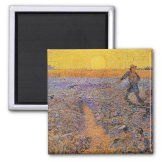 The Sower by Vincent van Gogh Fridge Magnets