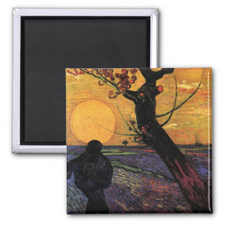 The Sower by Vincent van Gogh Refrigerator Magnets